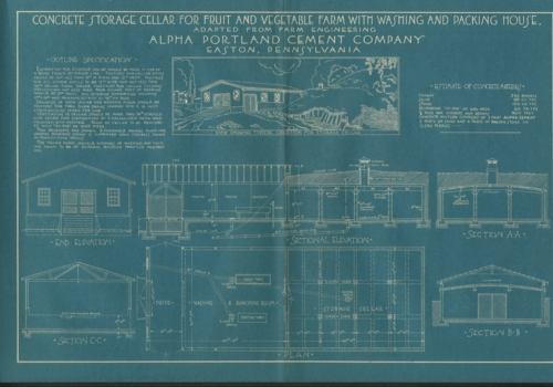 Alpha Portland Cement Company Blueprints and Concrete Plans
