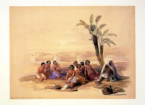 Abyssinian slaves resting at Korti Nubia
