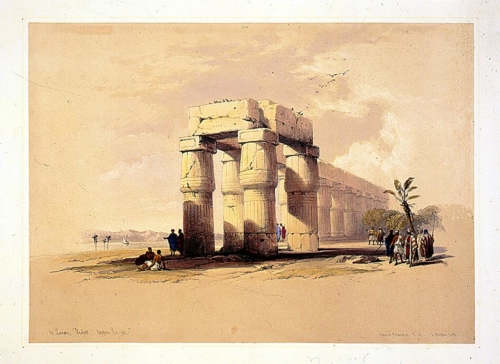 At Luxor, Thebes, Upper Egypt
