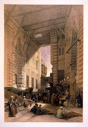 Bazaar of the silk mercers, Cairo