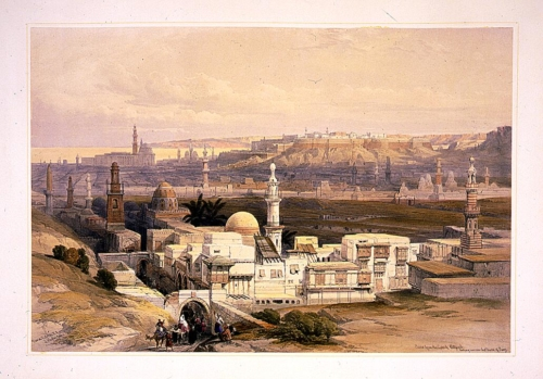 Cairo from the gate of Citizenib, looking toward the desert of Suez