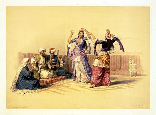 Dancing girls at Cairo