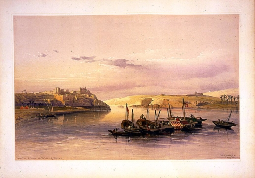 General view of Esouan and the island of Elephantine