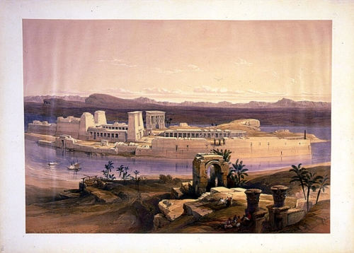 General view of the island of Philae Nubia Nov 18th 1838