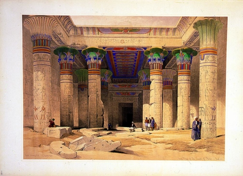 Grand portico of the Temple of Philae--Nubia