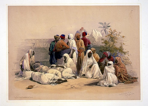 In the slave market of Cairo