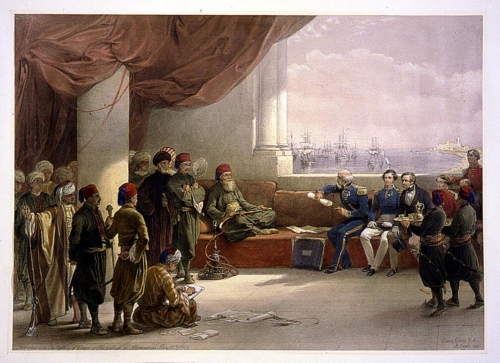 Interview with the Viceroy of Egypt at his palace at Alexandria