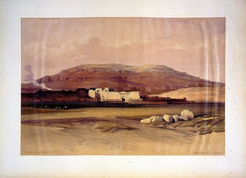 Medinet Abou_ Thebes Dec_ 8th 1838