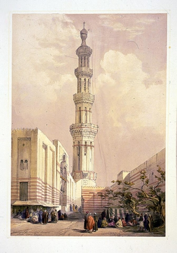 Minaret of the principle mosque_ Siout_ Upper Egypt