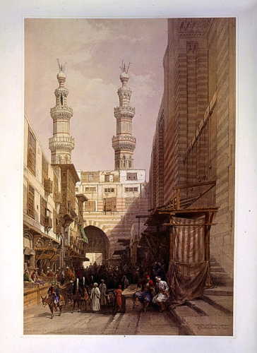 Minarets and grand entrance of the Metwaleys at Cairo