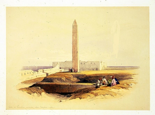 Obelisk at Alexandria commonly called Cleopatra_s needle