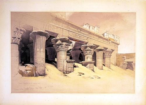 Portico of the Temple of Edfou--upper Egypt Novr 23rd 1838