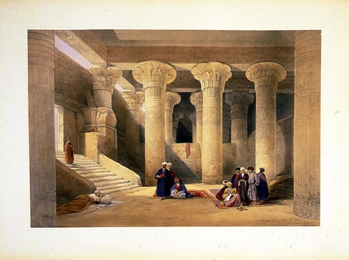 Temple at Esneh Nov 25th 1838
