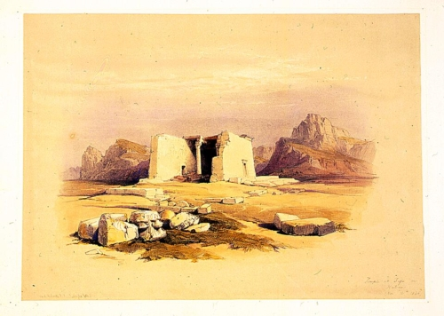 Temple at Tafa in Nubia Nov 16th 1838