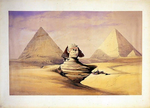 The Great Sphinx_ pyramids of Girzeh July 17th 1839