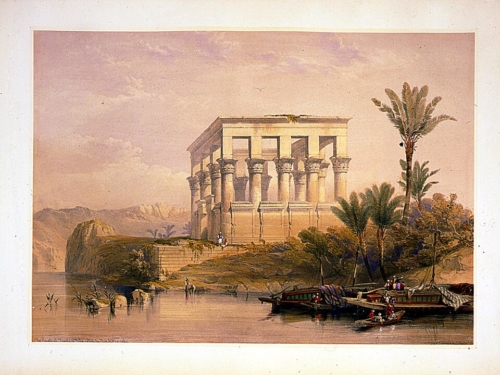 The hypaethral Temple at Philae called the bed of Pharoah