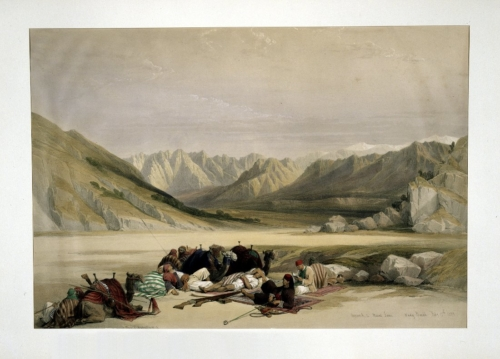 Approach to Mount Sinai Wady Barah Feby 17th 1839