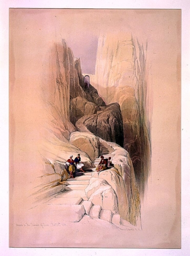 Ascent to the summit of Sinai Feby 20th 1839