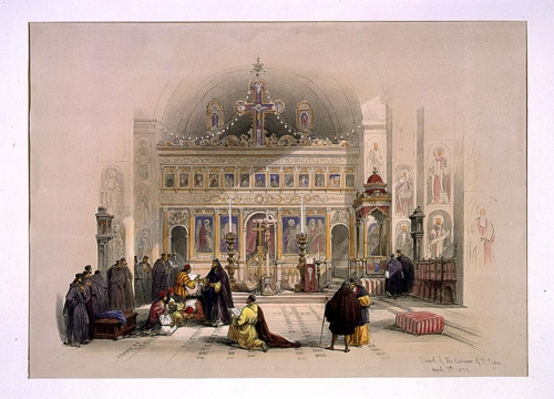 Chapel of the Convent of St_ Saba April 5th 1839