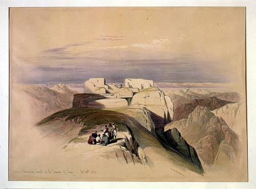 Christian _amp_ Mohamedan chapels on the Summit of Sinai Feby 20th 1839