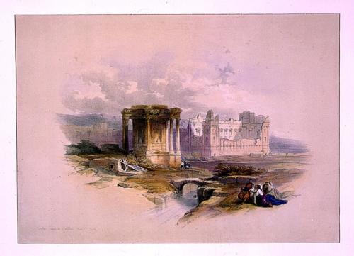 Circular temple at Baalbec May 7th 1839
