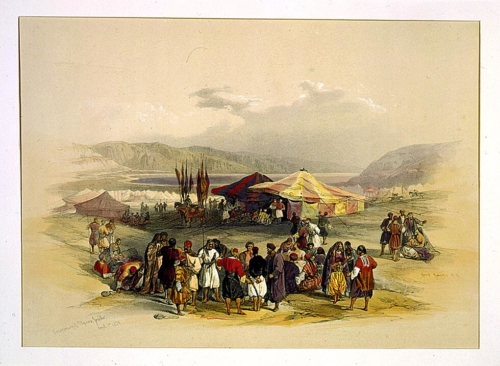 Encampment of pilgrims Jericho April 1st 1839