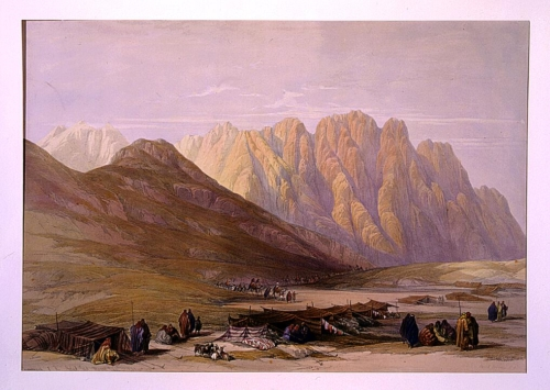 Encampment of the Aulad Sa_id Mount Sinai Feby 18th 1839