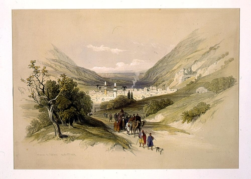 Entrance to Nablous April 17th 1839