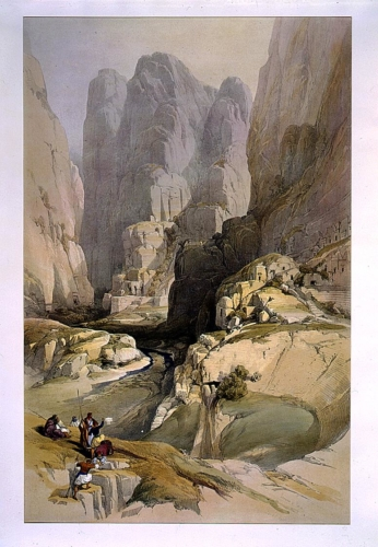 Entrance to Petra March 10th 1839