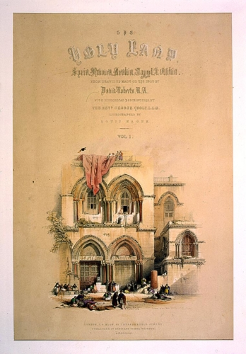 Entrance to the holy sepulchre_ title page_ vol_ 1_