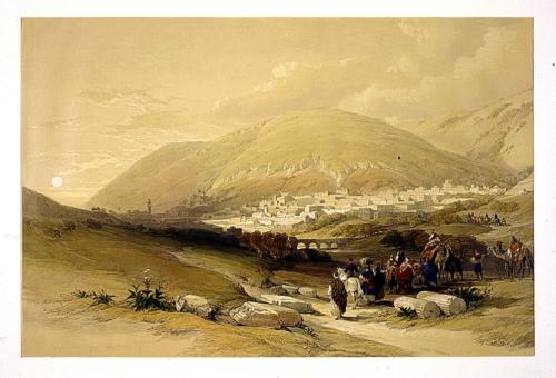 Nablous ancient Shechem April 17th 1839
