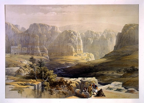 Petra looking south March 9th 1839