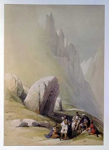 Rock of Moses Wady-el-Lega Mount Horeb Feby 22nd 1839