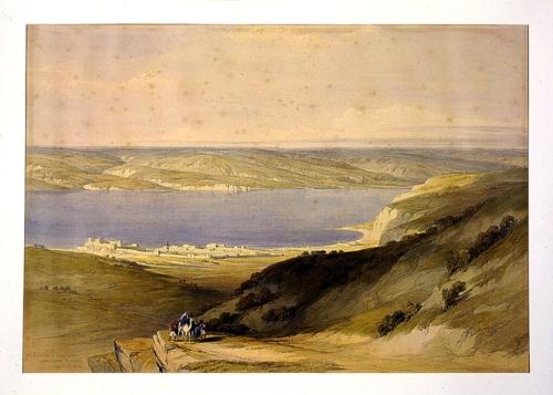 Sea of Galilee or Genazareth looking towards Bashan April 21st 1839