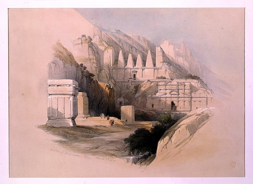 Sepulchral monuments Petra March 9th 1839