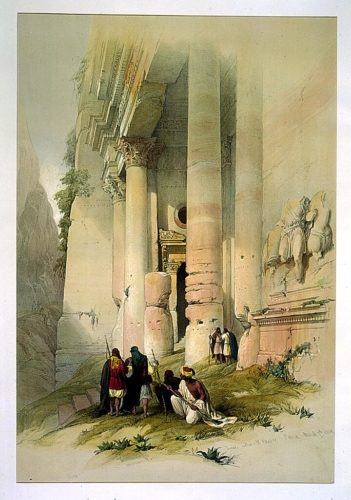 Temple called El Khasne Petra March 7th 1839