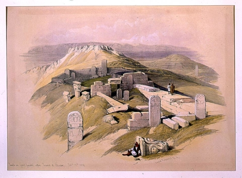 Temple on Gebel Garabe called Surabit el Khadim Feby 17th 1839