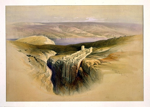 The Dead Sea looking towards Moab April 4th 1839