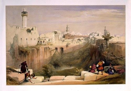 The Pool of Bethesda Jerusalem April 12th 1839