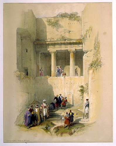 Tomb of St_ James_ Valley of JehosaphatJerusalem April 1839