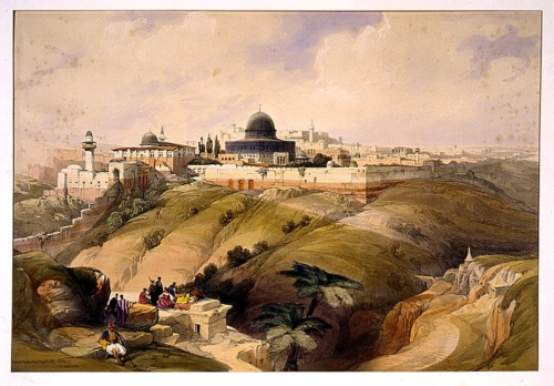 From the road leading to Bethany  April 9th 1839 Jerusalem