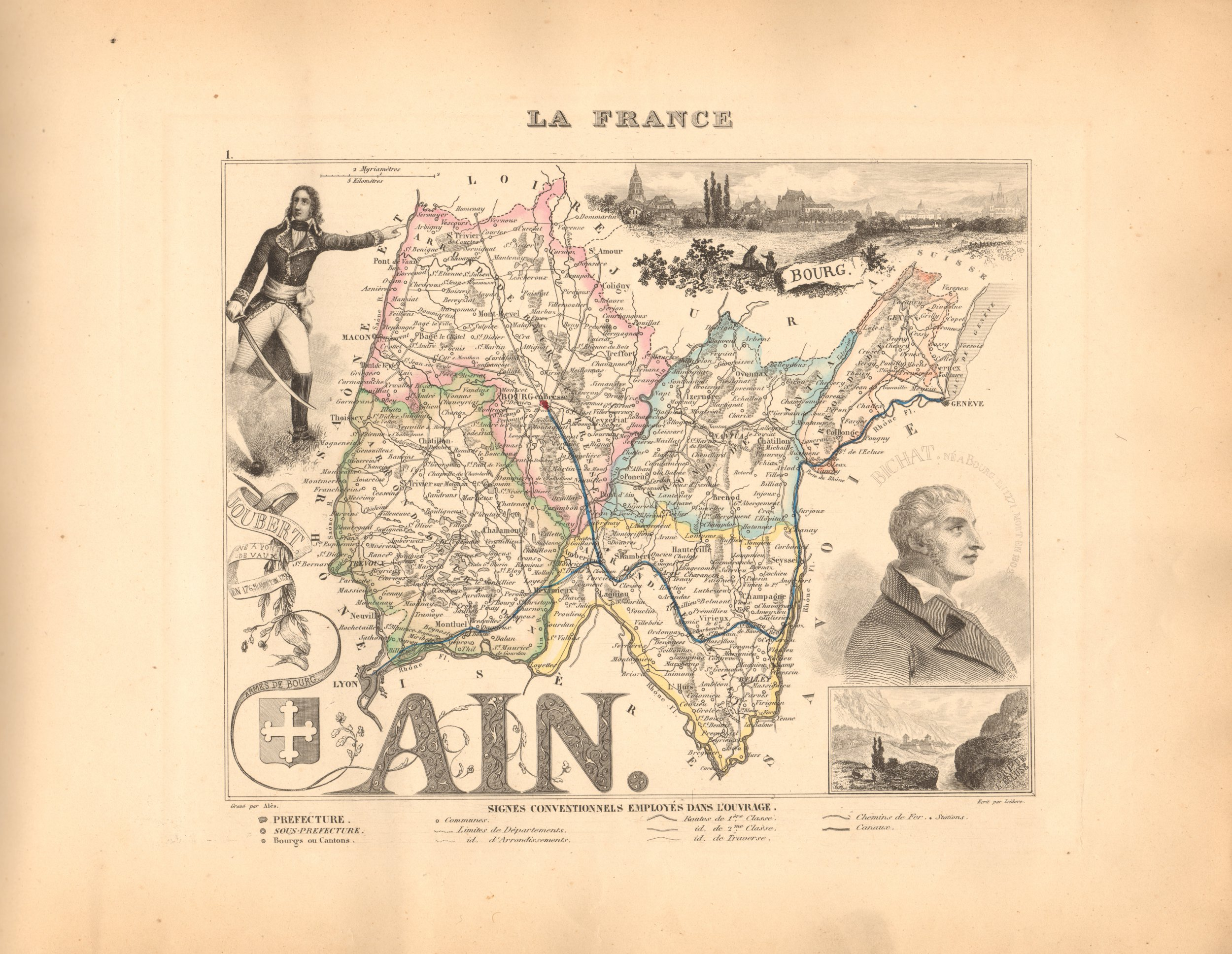 Ain - French Department Map