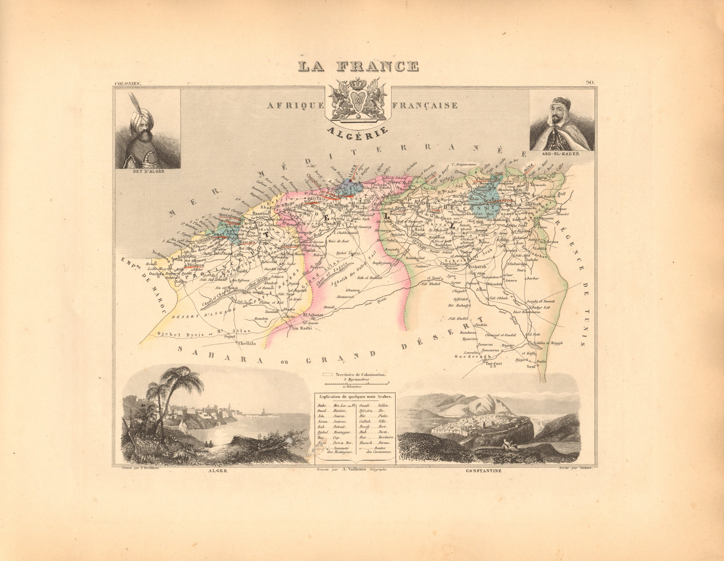 Algerie (Algeria) French Atlas Map