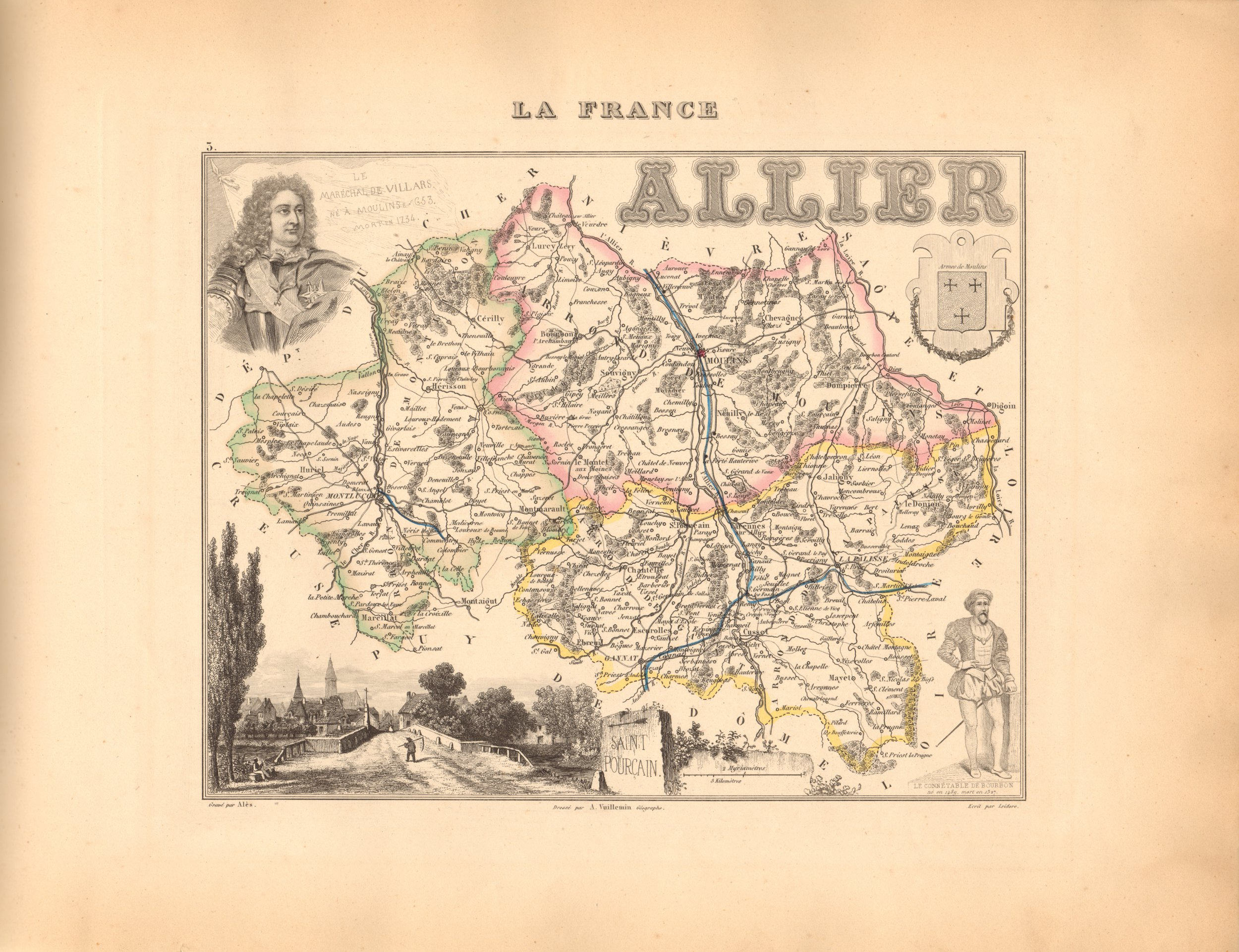 Allier - French Department Map