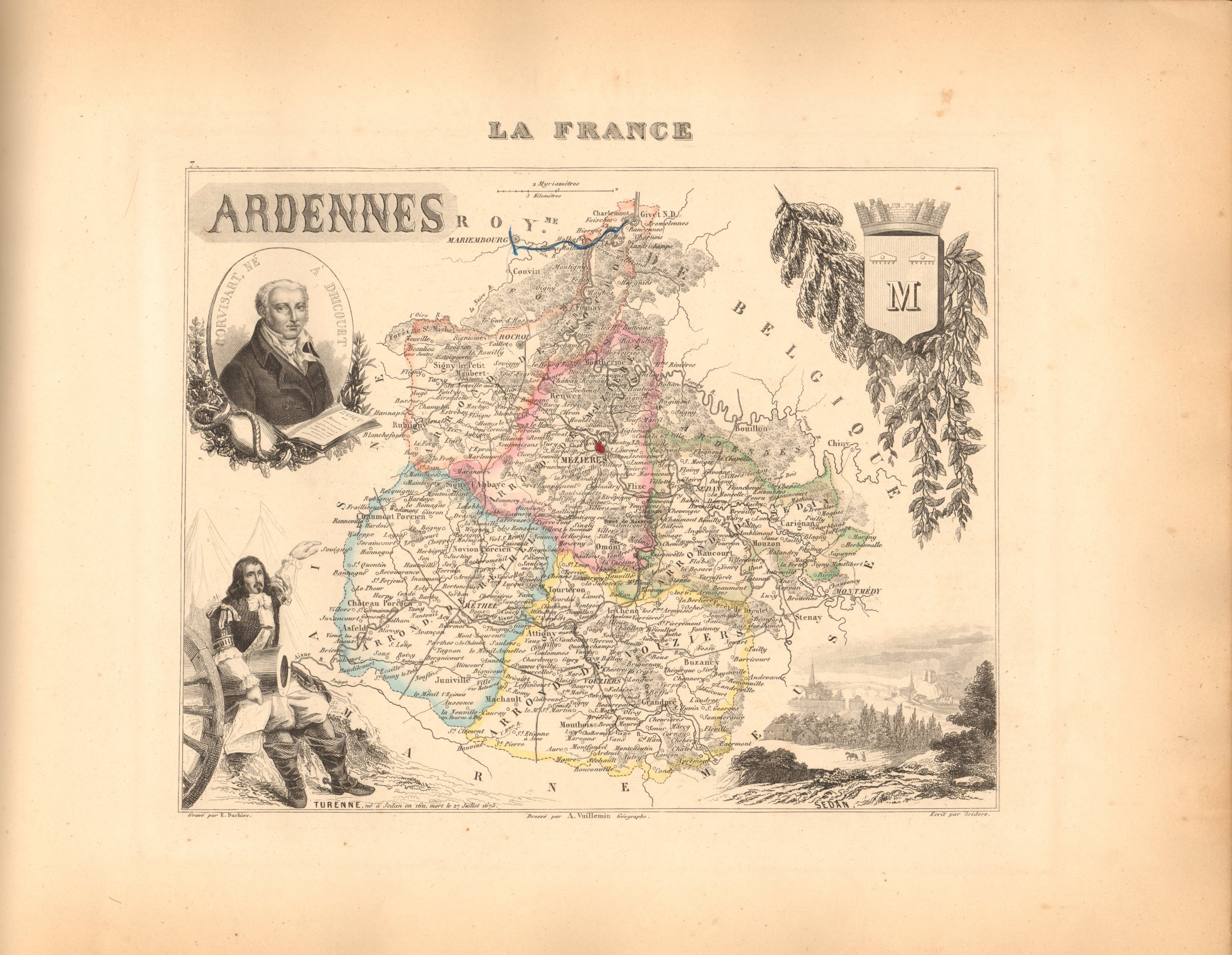 Ardennes - French Department Map