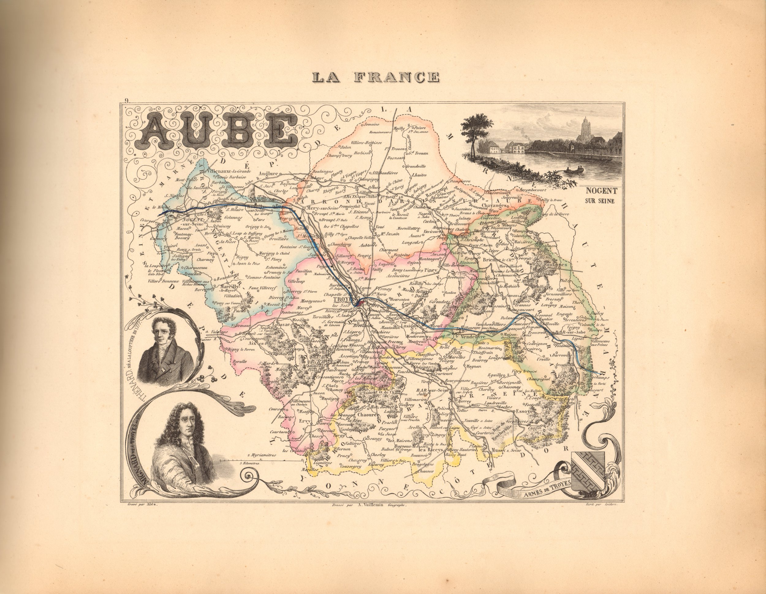 Aube - French Department Map