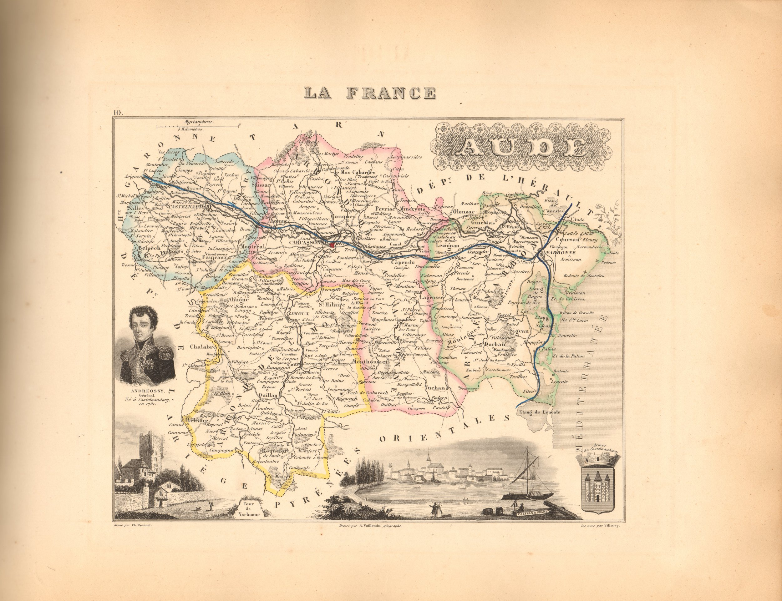 Aude - French Department Map