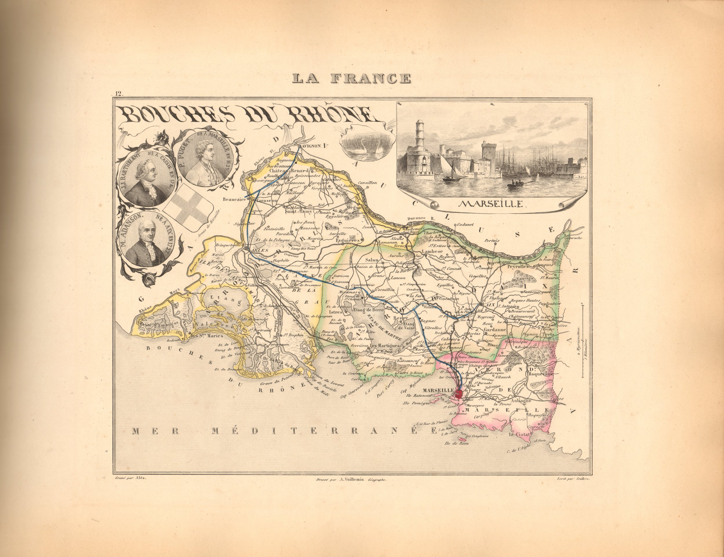 Bouches du Rhone - French Department Map