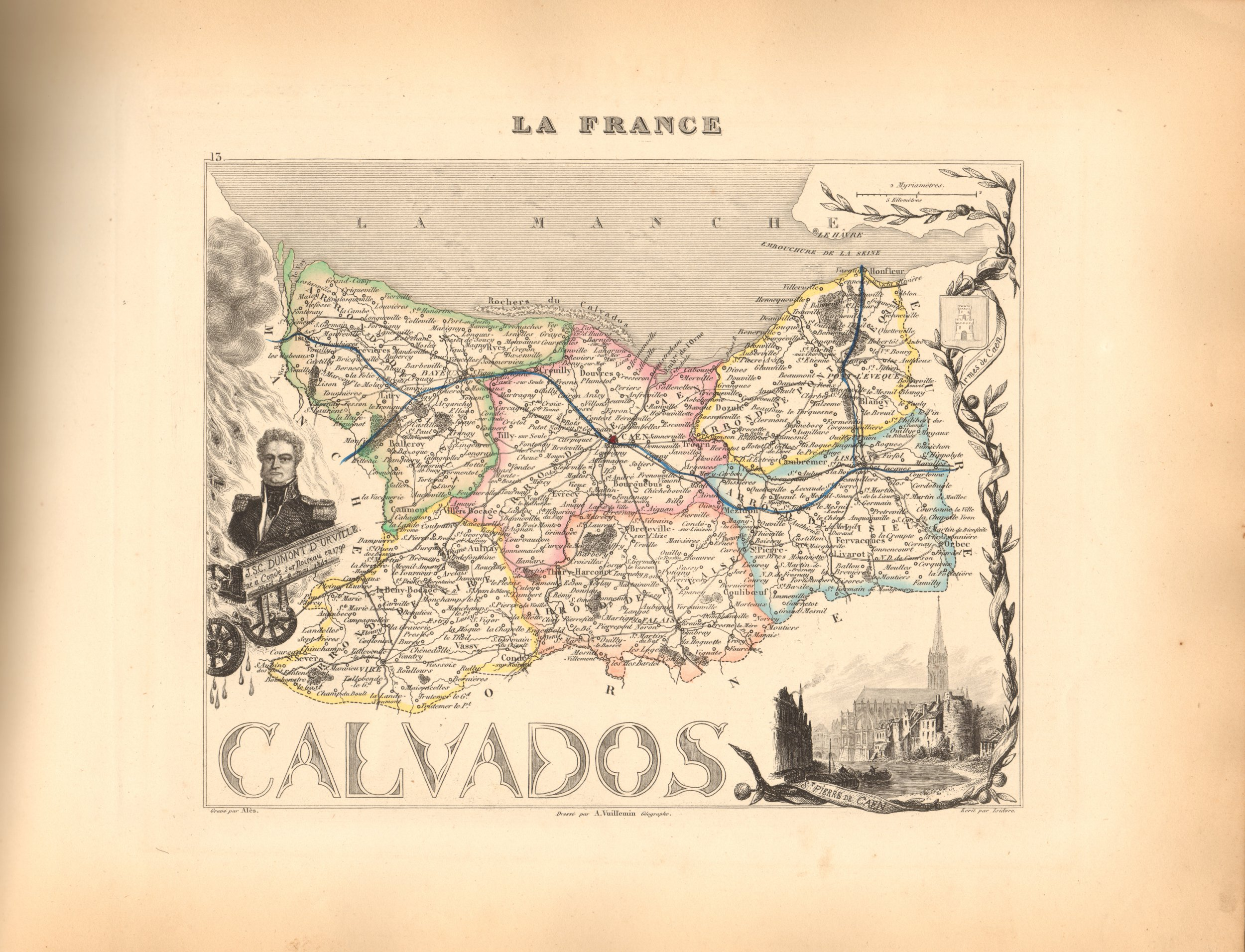 Calvados - French Department Map