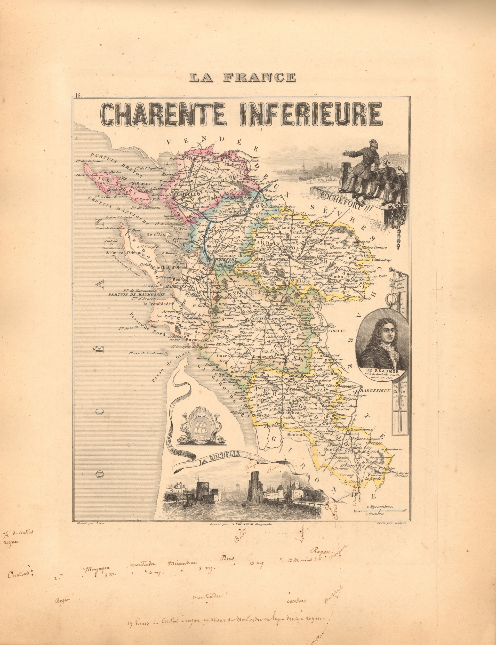 Charente-Inferieure - French Department Map